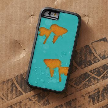 Goldfish silhouettes turquoise water iPhone 6 case