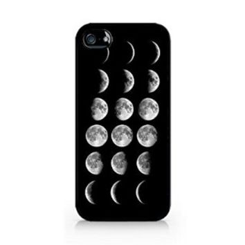Moon Phases - Lunar Phases - Hipster Moon Phases - iPhone 5/5S Black Case