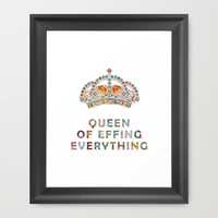 her daily motivation Framed Art Print by Bianca Green | Society6