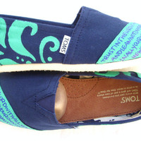 The Manny- Teal and Navy Custom TOMS