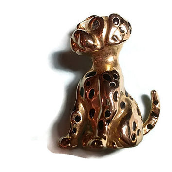 DOG Brooch, Dalmatian Brooch, Vintage Brooch, Vintage Jewelry, Costume Jewelry (sn 631)