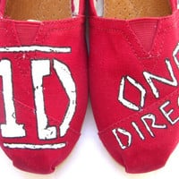 The Tomlinson - Red One Direction Custom TOMS