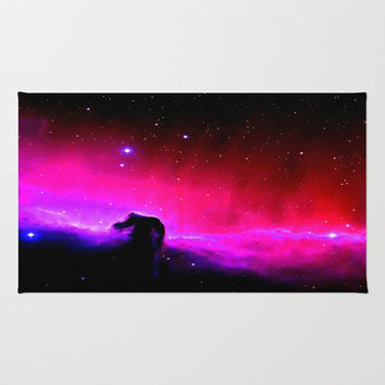 Horsehead Nebula Hot Pinks & Black Area & Throw Rug by 2sweet4words Designs | Society6