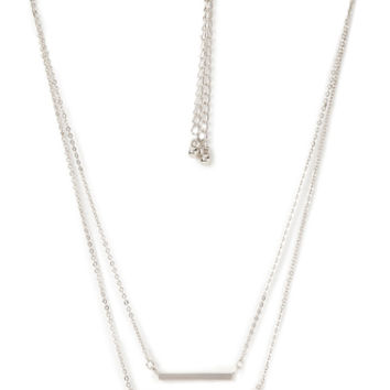 Linear Rhinestone Necklace Set