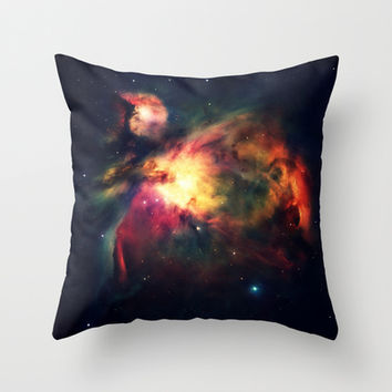 Orion Nebula Hauntingly Beautiful Throw Pillow by 2sweet4words Designs | Society6
