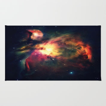 Orion Nebula Hauntingly Beautiful Area & Throw Rug by 2sweet4words Designs | Society6