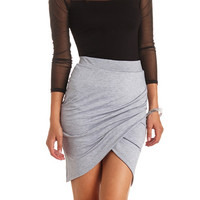 RUCHED BODYCON TULIP SKIRT