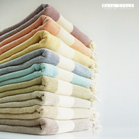 NEW Color Bathstyle Turkish BATH Towel Peshtemal - SOFT - Gray - Highly Water Absorbent