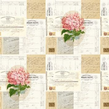 French Pink Hydrangea - 13moons_design - Spoonflower