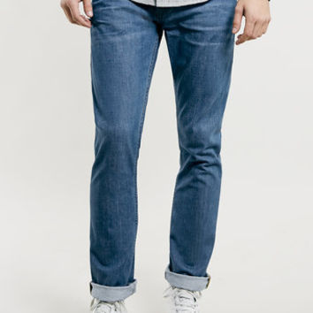 MID BLUE WASH REGULAR SLIM JEANS  New This Week  New In