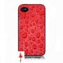 Red drops iphone 4  cell phone case, Iphone case, Iphone 4s case, Iphone 4 cover, i phone case, i phone 4s case