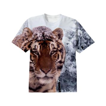 Siberian Tiger T-Shirt created by ErikaKaisersot | Print All Over Me