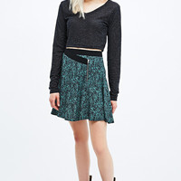 Pins & Needles Wrap Front Flippy Skirt in Green - Urban Outfitters