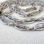 Vintage Inspired Chain:  Detailed Oxidized Silver Textured Brass - Unique Destash Jewelry Supplies