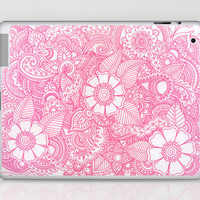Henna Design - Pink Laptop & iPad Skin by haleyivers | Society6