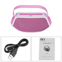 CKY Portable Bluetooth V3.0+EDR & Wireless BoomBox Rechargeable Stereo Hi-Fi Speaker AUX Handle for Tablets/ Smartphones/ Music players/ Other Bluetooth Wireless or 3.5 mm Output Audio Sources Pink