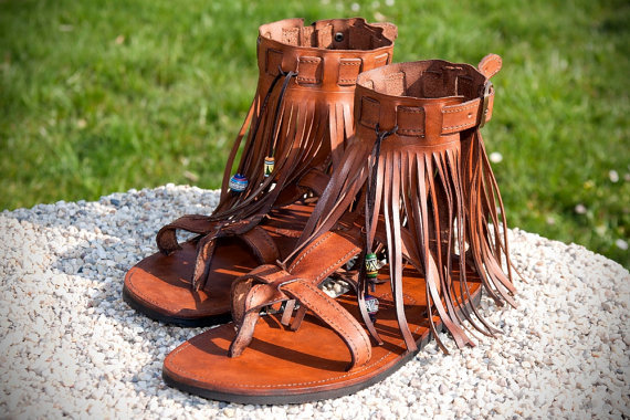 Leather sandals WOODSTOCK