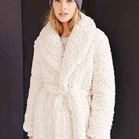Pins And Needles Sherpa Furry Robe Coat - Urban Outfitters