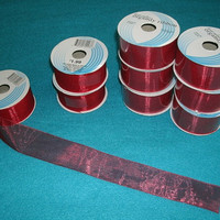 Red Organdy Ribbon Lot Sewing Destash