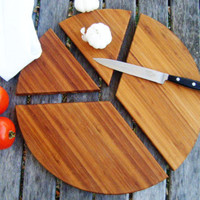16 inch Four Peice Peace Sign Cutting Board