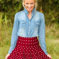 What Country Is Chambray Blouse-Medium Wash