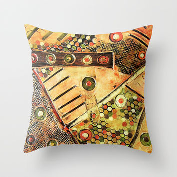 A Busy Life Throw Pillow by Fischer Fine Arts