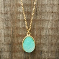 Sparkling Lake Druzy Necklace [2987] - $12.00 : Vintage Inspired Clothing &amp; Affordable Summer Dresses, deloom | Modern. Vintage. Crafted.