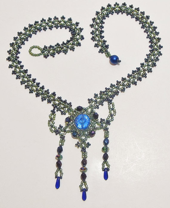 Statement Necklace,  Beaded Necklace, Victorian Era Necklace