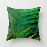 Fern Throw Pillow by ALLY COXON | Society6