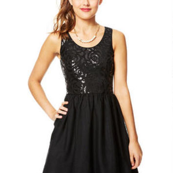 Floral Sequin and Tulle Dress