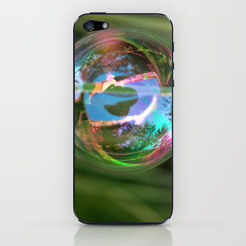 Rainbow Bubble iPhone & iPod Skin by KirbyLKoch | Society6