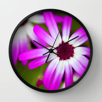 Purple Wall Clock by KirbyLKoch | Society6
