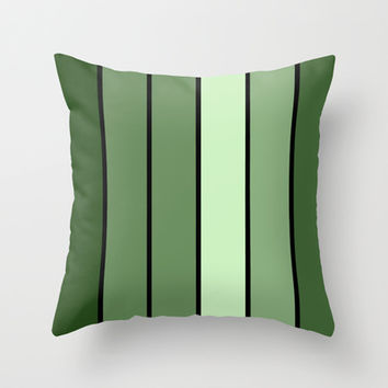 Olive Green Stripes Throw Pillow by 2sweet4words Designs | Society6