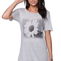 Workshop Free Spirit Boyfriend T-Shirt - Womens Tee - Grey -