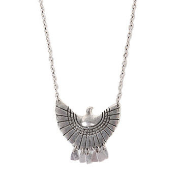 With Love From CA Fanned Bird Necklace at PacSun.com