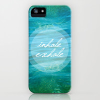 Inhale Exhale iPhone & iPod Case by Anwar B