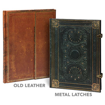 Antiquarian Blank Book Journals - Old Leather