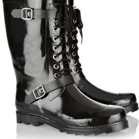 Däv Moto rubber rain boots – 50% at THE OUTNET.COM