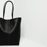 POINTED SHOPPER WITH CENTRAL SEAM - BAGS AND BACKPACKS - WOMAN - PULL&BEAR United Kingdom