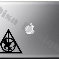 Harry Potter / The Hunger Games inspired, Mockingjay Deathly Hallows mashup vinyl decal