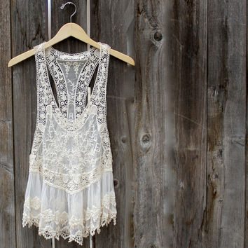 Ophelia bohemian lacy dress tank