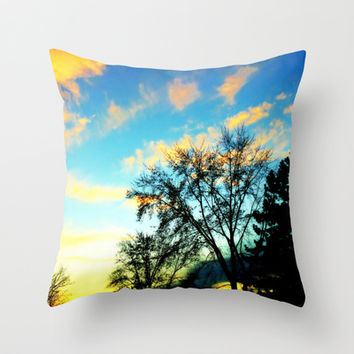 A Golden Day revisted Throw Pillow by 2sweet4words Designs | Society6