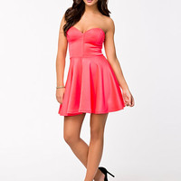 Bone Detail Skater Dress