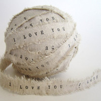 Personalized Ribbon 2 YARDS I Love .. on Luulla