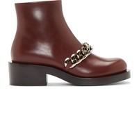 Burgundy Leather Chain Laura Boots42278F128011