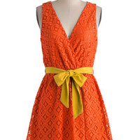 Stylist&#x27;s Best Palette in Orange | Mod Retro Vintage Dresses | ModCloth.com