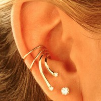 Classy Golden Ear Cuff, Pairs or Just Singles Available