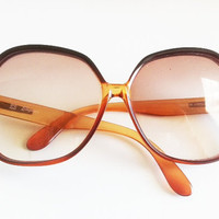 Burnt Orange Oversized Vintage Glasses