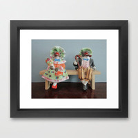 Toad's First Date Framed Art Print by ElephantTrunkStudio | Society6