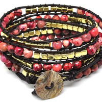Bohemian style colour beads beads weaving women beads cuff bracelet 1065A